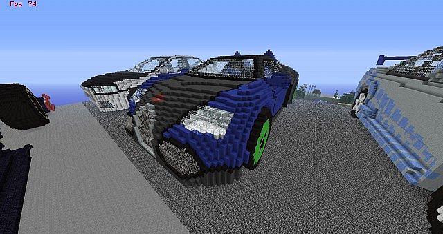 huge 3d car show 15 cars done minecraft project. Black Bedroom Furniture Sets. Home Design Ideas