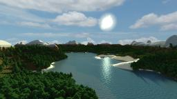 Custom Terrain: Norwegian fjord and mountains Minecraft Project