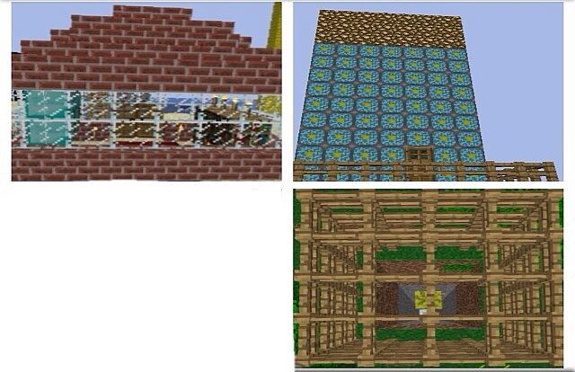The ugly house, the nether reactor tower, and the melon vault