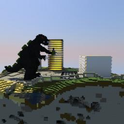 Spawn Godzilla Minecraft Map & Project