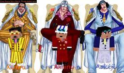 [One Piece Skin Series] {Pack 1} The Three Admirals Minecraft Blog