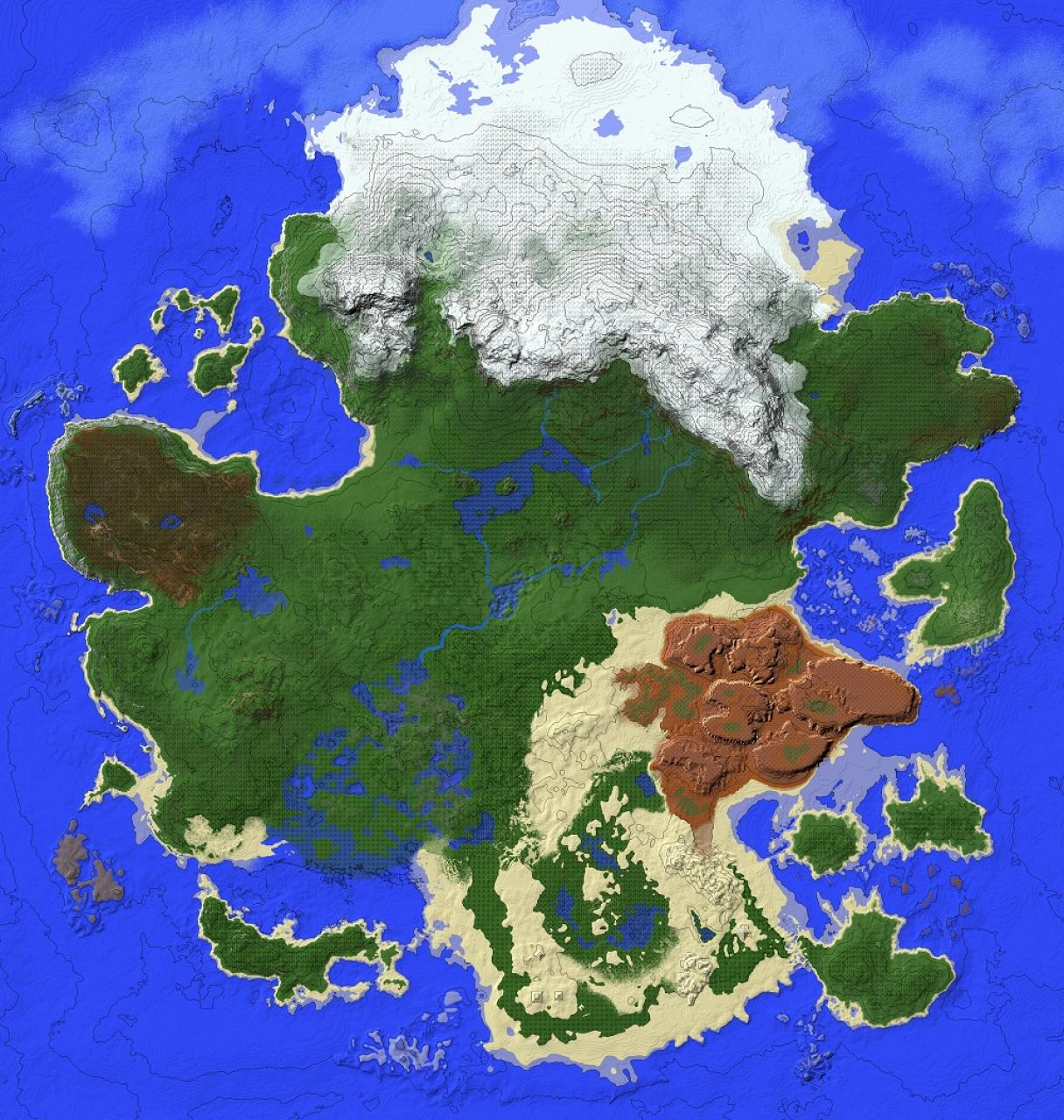 Gnarled Pangaea Minecraft Project - Pangaea map