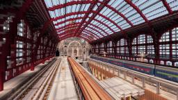 Timelapse - Antwerp Central Station - MUSEUM Minecraft Project
