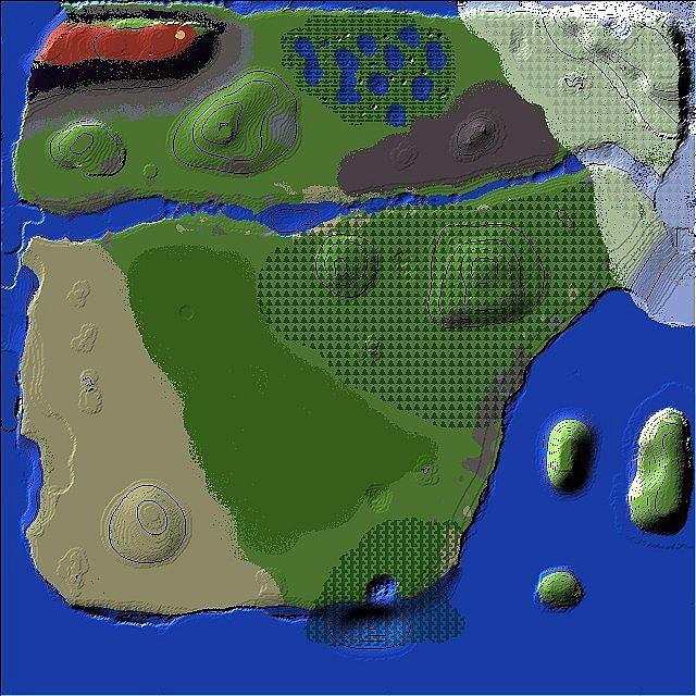 Minez World Map
