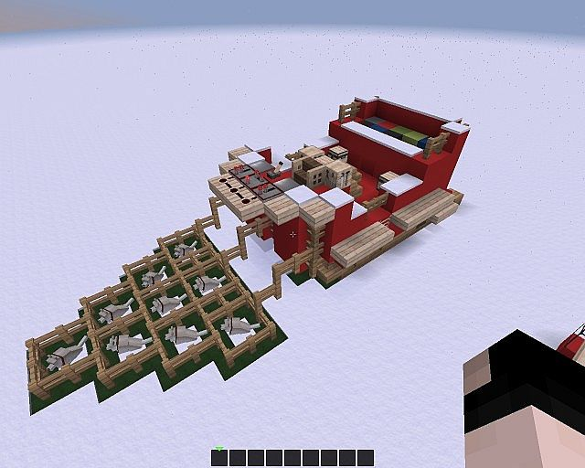 Minecraft Santa's Sleigh Minecraft Project