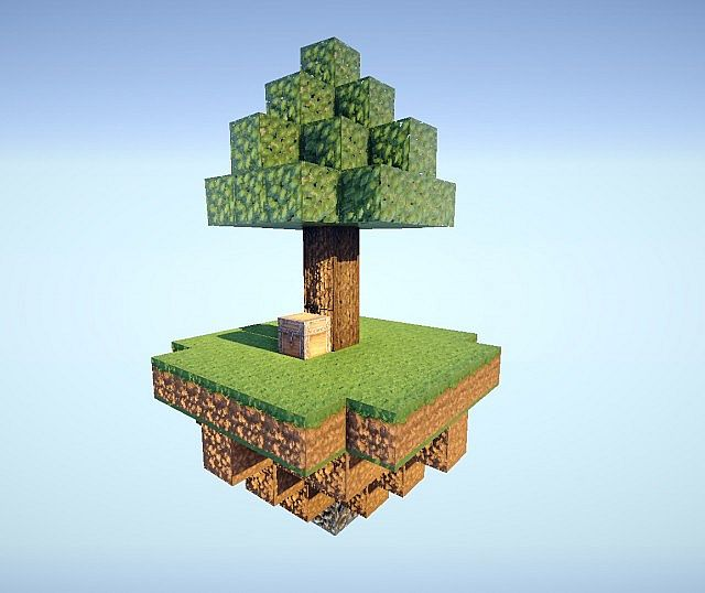 The starting island in skyblock.