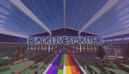 Pride Walkway and BLM Banner Minecraft Map & Project