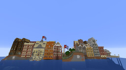 Vedado District- European Style Old Town NEW CUBA Minecraft Map & Project