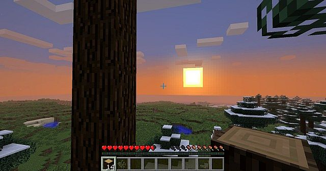 The Sun setting in a valley