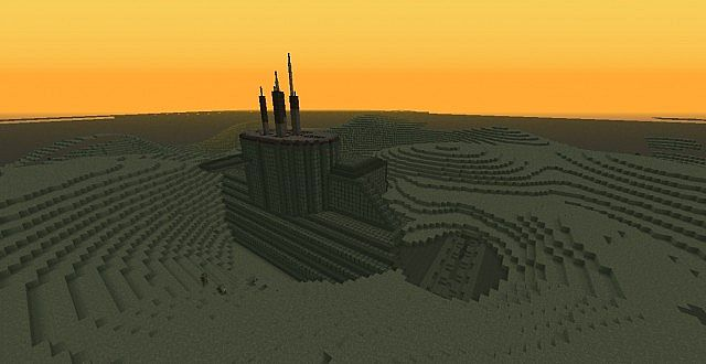 Giant Submarine Buried In The Ocean Floor Minecraft Project