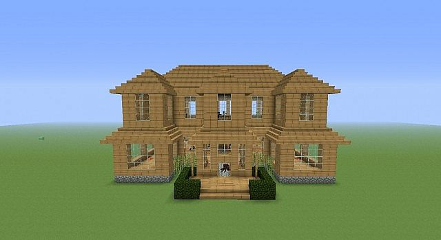 a simple easy-to-build mansion minecraft project