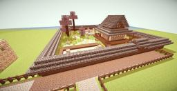 A Japanese traditional teahouse with a little garden Minecraft Map & Project
