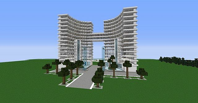 Modern hotel 39 white tower 39 by orionn100 minecraft project - Minecraft hochhaus ...