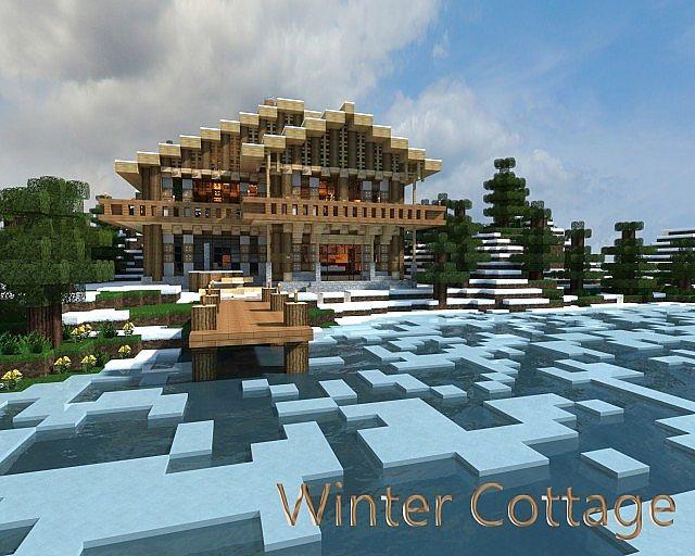 Winter Cottage Minecraft Project - Minecraft hauser download kostenlos