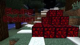 Glowing Obsidian Minecraft Mod