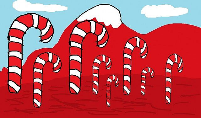 How I Picture The Candy Cane Forest From Elf Minecraft Blog