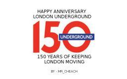 London Underground - 150 Years. Minecraft Blog