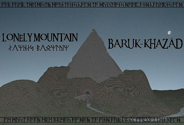 The Lonely Mountain Erebor Minecraft Project