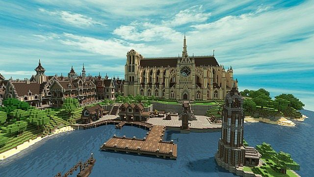V 229 Renshamn A 17th 19th Century Themed City Minecraft Map