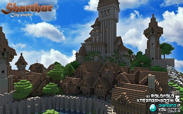 Minecraft Medieval City Download [MEDIEVAL CITY] Sharth...