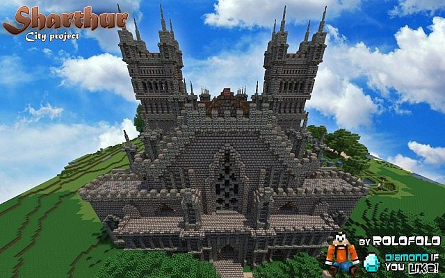 [MEDIEVAL CITY] Sharthur & 165 SUBS THANK YOU!  and DOWNLOAD! and Minecraft Monday Youtube vid