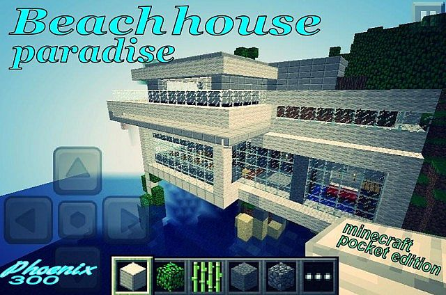 Beach house paradise modern house minecraft project for Beach house drawing