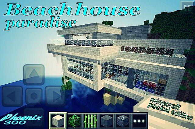 Beach House Paradise Modern House Minecraft Project
