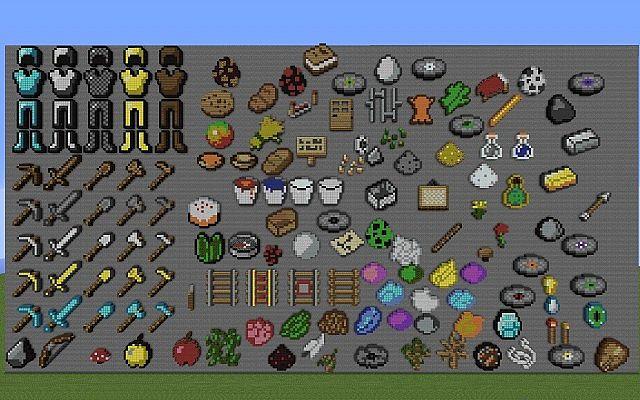 Pixel Art Item Wall V1 1 Minecraft Project