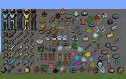 Pixel Art Item Wall V1.1 Minecraft Map & Project