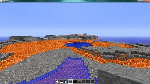 Troll biome with a lava sea