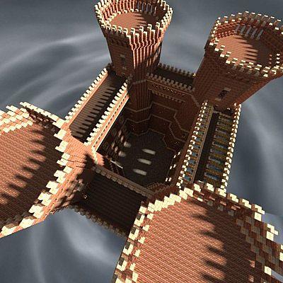 Big Tudor Red Brick Castle Minecraft Project