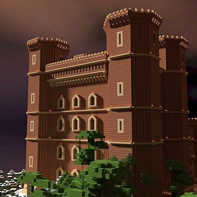 Big Tudor Red Brick Castle Minecraft Project