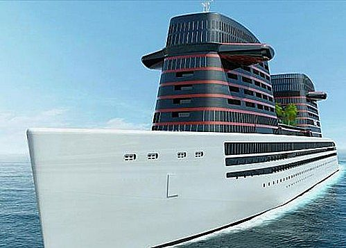Futuristic Ship  Cruise Ship  Paquebot France Minecraft