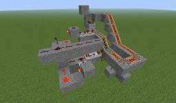 Automated mine cart cargo offloading Minecraft