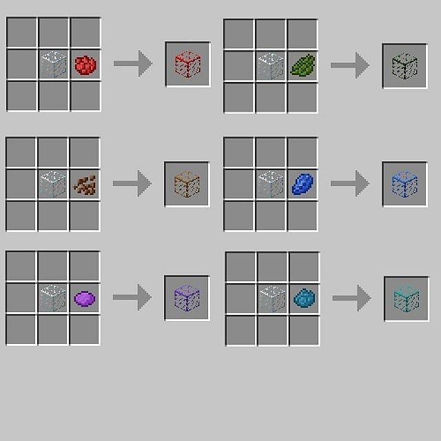 Blue Glass Recipe Minecraft