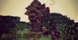 Medieval house #2 [Steampunk theme] (Now with schematics). Minecraft