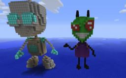INVADER ZIM 3D SCULPTURE Minecraft Map & Project