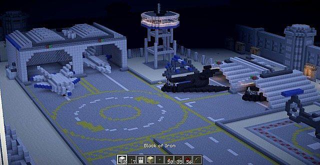 Airfield updated with nightlights