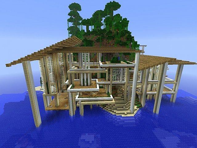 Build Beach House Minecraft