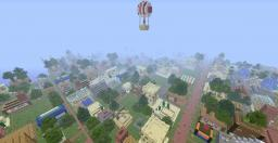 Huge Minecraft city with walls, shops and much more!!! NEW CITY! Minecraft Map & Project
