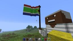 Nelson Mandela holding South African flag,R.I.P Nelson Minecraft Map & Project