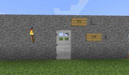 Open&Close Buttons Door Minecraft Map & Project