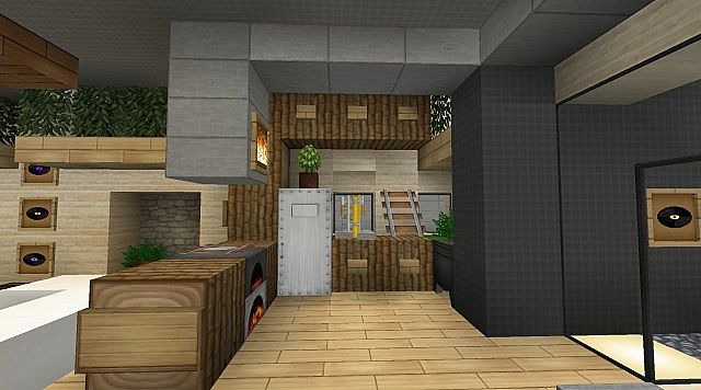 1 4 5 modern house series screenshots show your gallery for Kitchen ideas minecraft