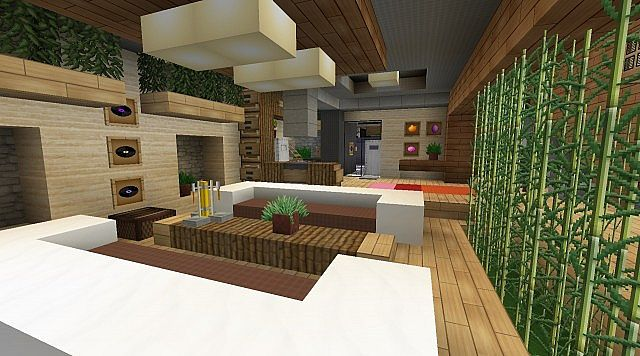 Modern jazz luxury home minecraft project for Minecraft house interior living room
