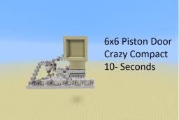 6x6 Piston Door [20x13x16, sand/gravel] Minecraft