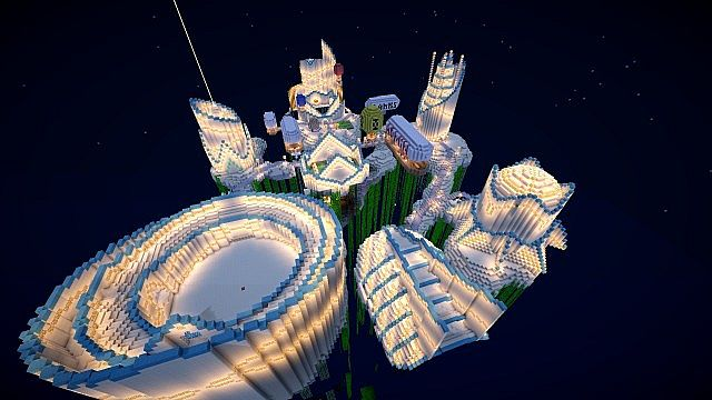 Heaven Spawn [W/ SCHEMATIC] Minecraft Project on