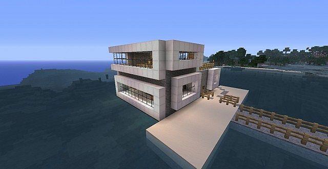 Minecraft Modern House On Water - Minecraft modern house 5x5