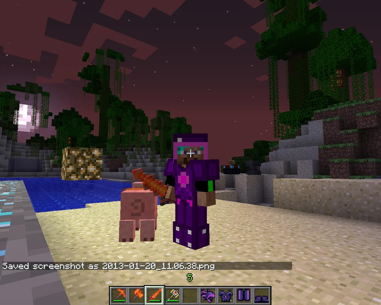 Minecraft  Crafting On The Mine