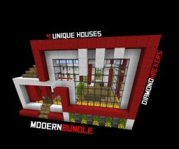 Modern bundle: 4 unique houses! Minecraft Map & Project