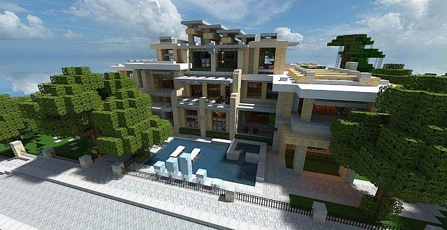 Modern mansion 2 series 1 minecraft project for Modern house exterior minecraft